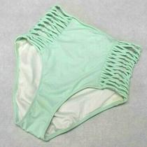 Victorias Secret Pink Swim High-Waist Bikini Bottoms Mint Tiffany Blue Sz Small Photo