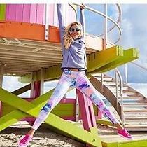 Victorias Secret Pink Ultimate Watercolor Pastel Yoga Leggings Nwt S Photo