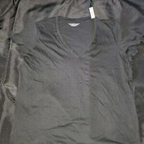 Victorias Secret Solid v-Neck Tee T-Shirt Top Black - Size Xl - Nwt Photo