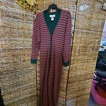 Victorias Secret Thermal Pajamas Size S Union Suit Long Johns Green Red Stripe  Photo