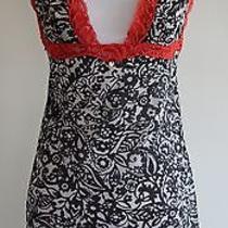 Victorias Secret Very Sexy. Mesh Babydoll W/ Red Lace Trim. Pajama Dress. Sz. S Photo