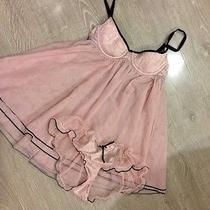 Victorias Secret Vintage Blush Pink Baby Doll Nightie With Matching Panties Photo