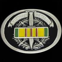 Vietnam War Ribbon Veteran Usn Usmc Usaf Navy Army Marine Nos Vtg Belt Buckle Photo