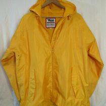 Viking B.t. Elements Hooded Wind Rain Jacket Men's M Yellow Nwot Mint Photo