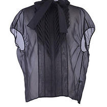 Viktor & Rolf 100% Silk Black See Through Sleeveless Blouse Us S It 40 Photo