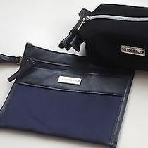 Viktor & Rolf Lot of 2 Small Accessory Bags Black/navy Blue Wristlet-Make-Up Photo