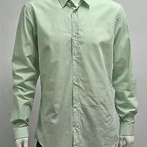 Viktor & Rolf Monsieur Button Down Shirt Men's New Sz 52 (42) Green Cotton 325 Photo