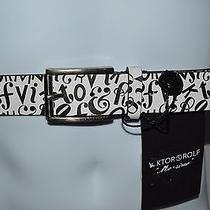 Viktor & Rolf Monsieur Casual Leather Belt  New  Size 38  Eur 95  Retail 225 Photo