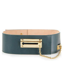 Viktor & Rolf  New Women Green Leather Belt With Applications Italy Made Size L Photo