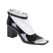 Viktor & Rolf Patent Leather Open Toe Zip Up Ankle Boots Shoes Us 10 It 40 Photo