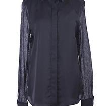 Viktor & Rolf Silk Black Long Sleeve Button Down Shirt Blouse Us 12 It 48 Photo
