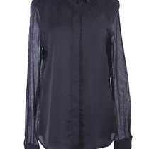 Viktor & Rolf Silk Black Long Sleeve Button Down Shirt Blouse Us 10 It 46 Photo