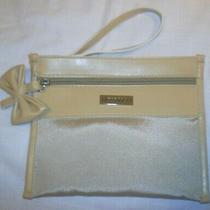 Viktor & Rolf  Soft Luxury Ivory White Make-Up Cosmetic Wristlet Bag Bow New Photo