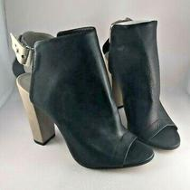 Vince Addison Peep Toe Booties T-Strap New Mismatched Sizes Left 7 Right 7.5 Photo