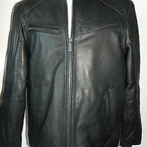 Vince Camuto 3m Thinsulate Insulation Isolant Leather Jacket Size Medium Photo
