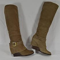 Vince Camuto Alician Brushed Suede Wedge Heel Knee High Boots Womens Size 6.5 M  Photo