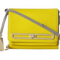 Vince Camuto Anika Crossbody Buttercup Gray Leather Messenger Purse New Photo