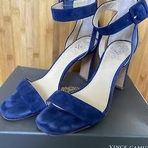 Vince Camuto Ankle Strap Heels Navy Photo
