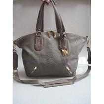 Vince Camuto Annette Taupe Large Leather Satchel Handbag Purse Ifs000175394 Photo