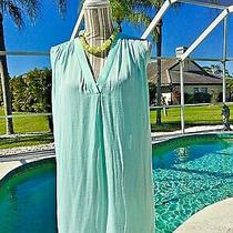 Vince Camuto-Aqua Blue Detailed Stitched Vneck X-Lite Cami/shell/top-2x New 69 Photo