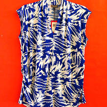 Vince Camuto   Azure Sky  Collared   Blouse   Top  Size  2x Photo