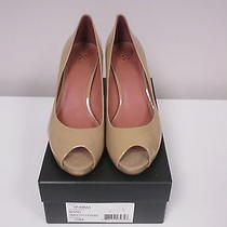 Vince Camuto Beige Patent Leather Open Toe Vp Kiras Pump Shoes Sz 10m Nib B1940 Photo