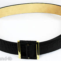 Vince Camuto Belt Croco Embossed Leather Size L/xl  Black Style 185456  Nwt  48 Photo