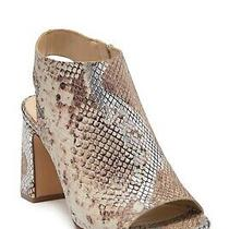 Vince Camuto Berlia Open Toe Heeled Bootie Metallic Snakeskin Women's Sz 8.5m  Photo