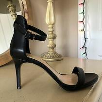 Vince Camuto  Black Leather Sexy Comfortable Excellent Condition Heels 7  Photo