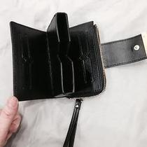Vince Camuto Black Leather Wristlet Wallet With Iphone Holder  Photo