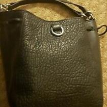 Vince Camuto Black Pebbled Leather Bucket Shoulder Bag Cross Body Purse Photo