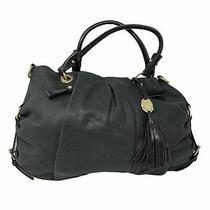 Vince Camuto Black Soft Leather Shoulder Bag Purse Travel Handbag Double Strap Photo