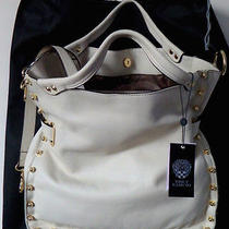 Vince Camuto Bolts Tote & Crossbody (Strap-Adjustable/removable) Ivory-Bnwt Photo
