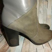 Vince Camuto Boots Cassandra Us 9.5 Gray Leather Mid Calf Slouch Pull on Hi Heel Photo