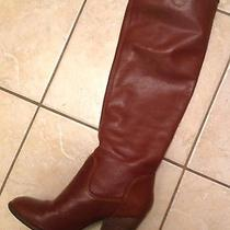 Vince Camuto Braden Brown Leather Boots 7.5 Worn Once Photo
