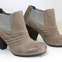 Vince Camuto Bronco Taupe Leather Heels Booties Ankle Boots Size 8b - Run Small  Photo