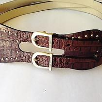 Vince Camuto Brown Genuine Leather Belt Photo