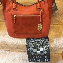 Vince Camuto Burnt Orange Mickey Satchel Nwt Photo