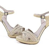 Vince Camuto Camryn Natural Petal Heels Sandal Shoes 10 New Photo