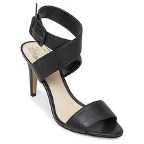 Vince Camuto Casara Black Crisscross Strap Heels Size 7m Photo