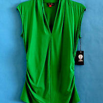 Vince Camuto   Clover Green  Collared   Blouse   Top  Size  Xl Photo