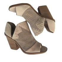 Vince Camuto Cutout Perforated Blush Heel Booties Photo