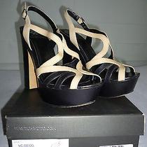Vince Camuto Deco Brown Petal Womens Designer Shoes Platform Strappy Sandals 10 Photo