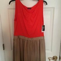 Vince Camuto Dress Orange Brand New Nwt Size L Photo