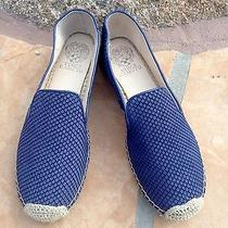 Vince Camuto Driston Espadrille Blue Leather Snake Flats Slip on Size 9m Nwt Photo