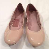 Vince Camuto Ellen Nude Patent Leather Ballet Flats Slip on Womens Shoes Sz 8m Photo