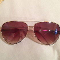 Vince Camuto Eyewear Combo Aviator White & Gold (W/ Ray-Ban Case)-Mint Condition Photo