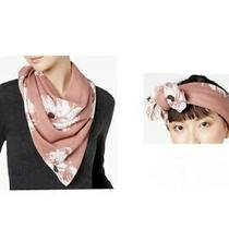 Vince Camuto Floral Triangle Scarf & Bandana in Blush One Size Photo