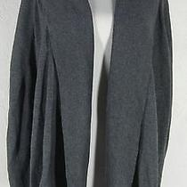 Vince Camuto Gray Cape Cardigan Sweater L Open Front Slit Armholes Photo
