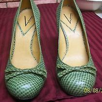 Vince Camuto Green Leather Heels/pumps Size 10/40b Preowned Photo